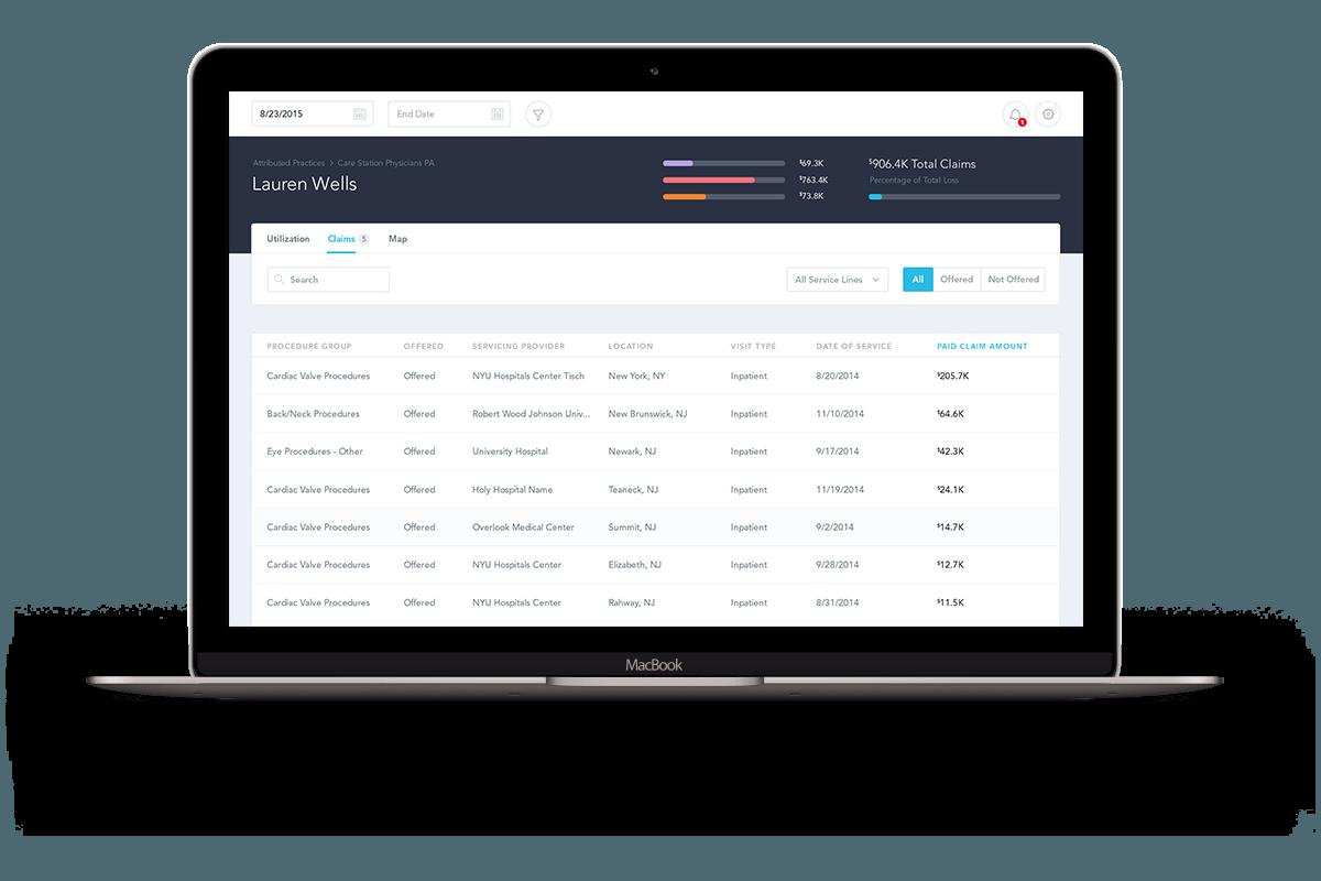 the insurer's desktop app