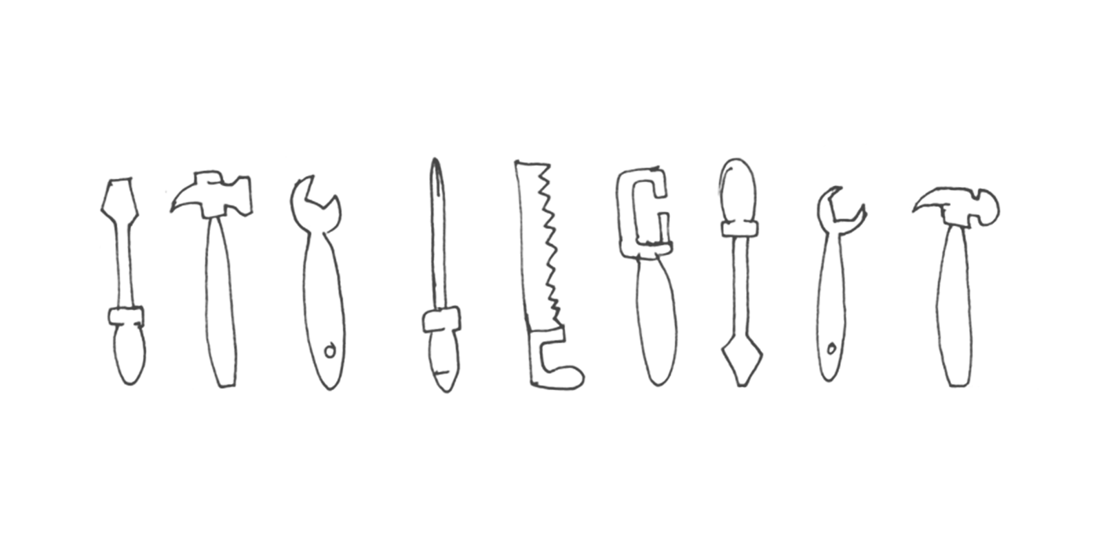 A sketch of a collection of trusty tools
